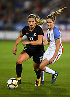 Commerce City, CO - Friday September 15, 2017: Rosie White, Morgan Brian and  during an International friendly match between the women's National teams of the United States (USA) and New Zealand (NZL) at Dick's Sporting Goods Park.