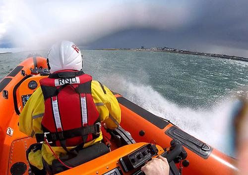 Skerries RNLI's inshore lifeboat en route to Rush