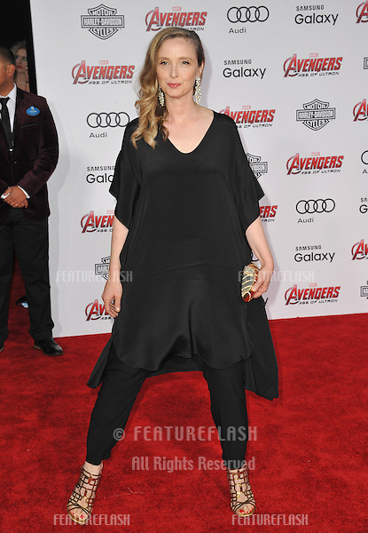 """Julie Delpy at the world premiere of """"Avengers: Age of Ultron"""" at the Dolby Theatre, Hollywood.<br /> April 13, 2015  Los Angeles, CA<br /> Picture: Paul Smith / Featureflash"""