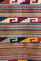 Santa Ana del Valle, Oaxaca; Mexico.  Hand-Woven Zapotec Indian Fabric, a Wall Hanging.