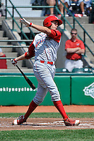 Williamsport Crosscutters DH Kelly Dugan (25) during game against the Brooklyn Cyclones at MCU Park on August 3, 2011 in Brooklyn, NY.  Brooklyn defeated Williamsport 3-2.  Tomasso DeRosa/Four Seam Images