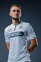Pictured: Matt Grimes. Thursday 29 August 2018<br />Re: Swansea City FC player and staff profile photo-shoot at Fairwood Training Ground, Wales, UK