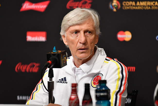 Colombia Head Coach Jose Pekerman during a press conference on the eve of Copa America Centenary, in Santa Clara, CA. Thursday, Jun 02, 2016. (TFV Media via AP) *Mandatory Credit*