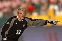 Los Angeles Galaxy'sKevin Hartman during the game against Chivas USA  in the first half at the Home Depot Center in Carson, CA on Saturday, July 16, 2005..(Matt A. Brown/ISI)