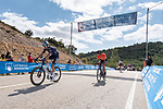 The breakaway including Tobias Bayer (AUT) Alpecin-Fenix during Stage 3 of La Vuelta d'Espana 2021, running 202.8km from Santo Domingo de Silos to Picon Blanco, Spain. 16th August 2021.    <br /> Picture: Cxcling | Cyclefile<br /> <br /> All photos usage must carry mandatory copyright credit (© Cyclefile | Cxcling)