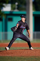 Gavin Nalu (12) during the WWBA World Championship at Terry Park on October 10, 2020 in Fort Myers, Florida.  Gavin Nalu, a resident of La Mesa, California who attends Cathedral Catholic High School, is committed to Stanford.  (Mike Janes/Four Seam Images)