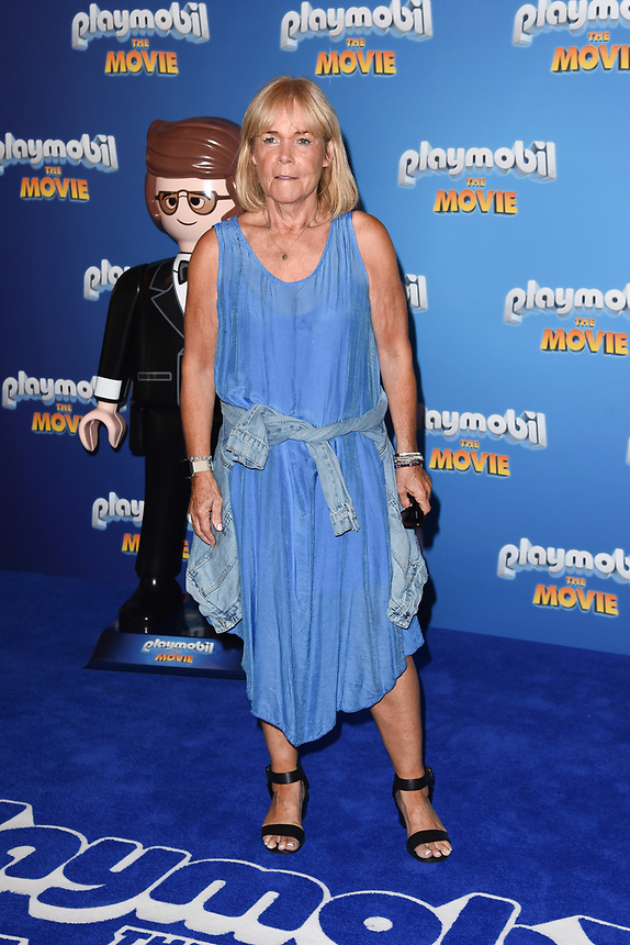 "Linda Robson<br /> arriving for the ""Playmobil:The Movie"" premiere at the Vue Leicester Square, London<br /> <br /> ©Ash Knotek  D3515  04/08/2019"