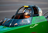 Sep 4, 2020; Clermont, Indiana, United States; NHRA top alcohol dragster driver Matt Cummings during qualifying for the US Nationals at Lucas Oil Raceway. Mandatory Credit: Mark J. Rebilas-USA TODAY Sports