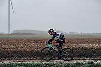 3rd October 2021, Paris–Roubaix Mens Cycling tour;  Peak Barnabas during the Paris–Roubaix which is famous for its uneven cobblestone course.