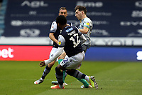 Mahlon Romeo of Millwall and Joseph Rankin-Costello of Blackburn Rovers during Millwall vs Blackburn Rovers, Sky Bet EFL Championship Football at The Den on 14th July 2020