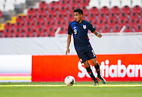 GUADALAJARA, MEXICO - MARCH 28: Jesus Ferreira #9 of the United States looks for an open man downfield during a game between Honduras and USMNT U-23 at Estadio Jalisco on March 28, 2021 in Guadalajara, Mexico.