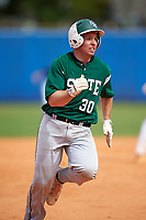 Farmingdale Rams catcher Joseph Roche (30) during a game against the Union Dutchmen on February 21, 2016 at Chain of Lakes Stadium in Winter Haven, Florida.  Farmingdale defeated Union 17-5.  (Mike Janes/Four Seam Images)
