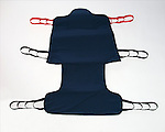 Zuma medical sling for picking up patients from hospital beds.