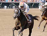 June 26,, 2021: #Double Thunder, #8, ridden by jockey John Velazquez, wins the Bashford Manor Stakes (Grade 3) at Churchill Downs.  Louisville, KY on June 26, 2021.  Candice Chavez/ESW/CSM