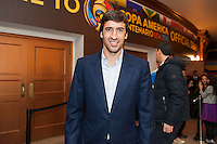NEW YORK, NY - Sunday February 21, 2016: Real Madrid stand-out Raul arrives to the Copa America Centenario draw ceremony at the Hammerstein Ballroom in midtown Manhattan, New York City.