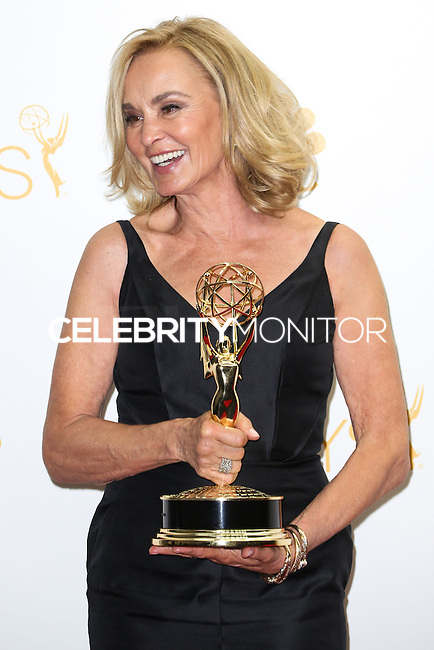 LOS ANGELES, CA, USA - AUGUST 25: Actress Jessica Lange, winner of the Outstanding Lead Actress in a Miniseries or Movie Award for 'American Horror Story: Coven' poses in the press room at the 66th Annual Primetime Emmy Awards held at Nokia Theatre L.A. Live on August 25, 2014 in Los Angeles, California, United States. (Photo by Celebrity Monitor)