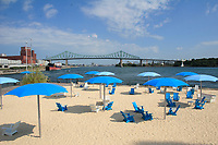 August 2012   File Photo - Montreal, Quebec, CANADA -  Quai de l'horloge urban beach in Montreal's Old-Port...