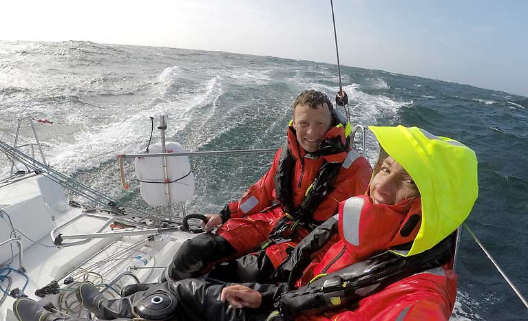 Wicklow's Kenny Rumball and Pamela Lee on RL Sailing