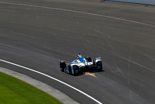 Verizon IndyCar Series<br /> Indianapolis 500 Carb Day<br /> Indianapolis Motor Speedway, Indianapolis, IN USA<br /> Friday 26 May 2017<br /> Marco Andretti, Andretti Autosport with Yarrow Honda<br /> World Copyright: Phillip Abbott<br /> LAT Images<br /> ref: Digital Image abbott_indy_0517_27066