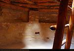 Restored Kiva, Ladder to Entrance, Pilasters supporting Roof, Spruce Tree House Cliff Dwelling, Anasazi Hisatsinom Ancestral Pueblo Site, Chapin Mesa, Mesa Verde National Park, Colorado