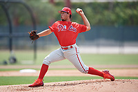 Philadelphia Phillies pitcher Orestes Melendez (68) during a Minor League Extended Spring Training game against the Atlanta Braves on April 20, 2018 at Carpenter Complex in Clearwater, Florida.  (Mike Janes/Four Seam Images)