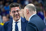 Real Madrid coach Pablo Laso and Iberostar Tenerife coach Fotis Katsikaris during first match quarter finals of Liga Endesa Playoff between Real Madrid and Iberostar Tenerife at Wizink Center in Madrid, Spain. May 27, 2018. (ALTERPHOTOS/Borja B.Hojas)