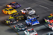 #22: Joey Logano, Team Penske, Ford Fusion Shell Pennzoil and #11: Denny Hamlin, Joe Gibbs Racing, Toyota Camry FedEx Ground