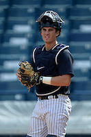 New York Yankees catcher Trent Garrison (24) during an Instructional League game against the Toronto Blue Jays on September 24, 2014 at George M. Steinbrenner Field in Tampa, Florida.  (Mike Janes/Four Seam Images)