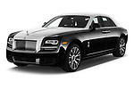 2018 Rollsroyce Ghost - 4 Door Sedan Angular Front stock photos of front three quarter view