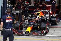 10th September, September 2021; Nationale di Monza, Monza, Italy; FIA Formula 1 Grand Prix of Italy, Free practise and qualifying for sprint race:  33 Max Verstappen NED, Red Bull Racing