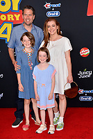 "LOS ANGELES, USA. June 12, 2019: Alyson Hannigan, Alexis Denisof,  Satyana Marie Denisof & Keeva Jane Denisof at the world premiere of ""Toy Story 4"" at the El Capitan Theatre.<br /> Picture: Paul Smith/Featureflash"