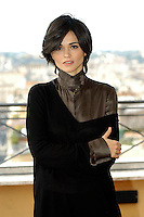 "ROMINA MONDELLO.Photocall for ""Milano-Palermo: il ritorno"", Rome, Italy..November 15th, 2007.half length brown black top .CAP/CAV.©Luca Cavallari/Capital Pictures."