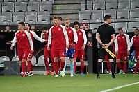 Einlauf Dänemark - Innsbruck 02.06.2021: Deutschland vs. Daenemark, Tivoli Stadion Innsbruck