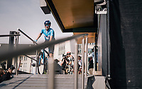 4-time Liège winner Alejandro Valverde (ESP/Movistar) at the pre-race sign-on<br /> <br /> 104th Liège - Bastogne - Liège 2018 (1.UWT)<br /> 1 Day Race: Liège - Ans (258km)