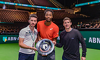 Rotterdam, The Netherlands, 17 Februari 2019, ABNAMRO World Tennis Tournament, Ahoy,  Winner Gael Monfils with the trophy and his coaches<br /> Photo: www.tennisimages.com/Henk Koster