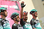 Peter Sagan (SVK) and Bora-Hansgrohe at sign on before the start of Stage 2 of the 103rd edition of the Giro d'Italia 2020 running 149km from Alcamo to Agrigento, Sicily, Italy. 4th October 2020.  <br /> Picture: LaPresse/Gian Mattia D'Alberto | Cyclefile<br /> <br /> All photos usage must carry mandatory copyright credit (© Cyclefile | LaPresse/Gian Mattia D'Alberto)