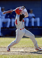 Catcher Jeff Diehl of the Cranston West Falcons during a game vs. Warwick Veterans Hurricanes on April 7, 2011 in Warwick, Rhode Island.  Photo By Ken Babbitt /Four Seam Images