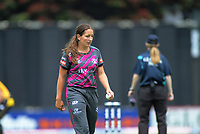 Northern captain Felicity Leydon-Davis prepares to bowl during the women's Dream11 Super Smash cricket match between the Wellington Blaze and Northern Spirit at Basin Reserve in Wellington, New Zealand on Friday, 3 January 2020. Photo: Dave Lintott / lintottphoto.co.nz