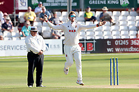 Simon Harmer in bowling action for Essex during Essex CCC vs Gloucestershire CCC, LV Insurance County Championship Division 2 Cricket at The Cloudfm County Ground on 7th September 2021