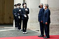 The Italian premier Mario Draghi meets at Palazzo Chigi the President of the Republic of Austria Alexander Van der Bellen.<br /> Rome (Italy), June 8th 2021<br /> Photo Samantha Zucchi Insidefoto