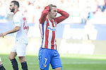 Atletico de Madrid's Antoine Griezmann during La Liga match between Atletico de Madrid and Sevilla CF at Vicente Calderon Stadium in Madrid, Spain. March 19, 2017. (ALTERPHOTOS/BorjaB.Hojas)