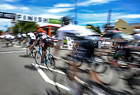 The final group ride in during the NZ Cycle Classic stage five of the UCI Oceania Tour in Masterton, New Zealand on Saturday, 23 January 2016. Photo: Dave Lintott / lintottphoto.co.nz