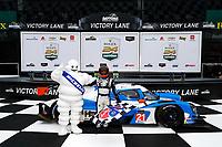 #21 Muehlner Motorsports America Duqueine M30-D08, P3-1: Moritz Kranz, Laurents Hoerr, podium, winner, Bibendum, Michelin Man