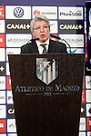 Atletico de Madrid's President Enrique Cerezo. January 9, 2015. (ALTERPHOTOS/Acero)