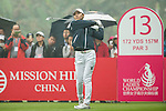 Min Sun Kim of South Korea tees off at the 13th hole during Round 4 of the World Ladies Championship 2016 on 13 March 2016 at Mission Hills Olazabal Golf Course in Dongguan, China. Photo by Victor Fraile / Power Sport Images