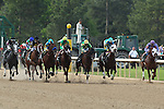 April 11, 2015: Starting field coming down the opening stretch in the Arkansas Derby at Oaklawn Park in Hot Springs, AR. Justin Manning/ESW/CSM