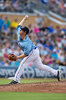 Durham Bulls relief pitcher Kyle Winkler (26) delivers a pitch to the plate against the Buffalo Bisons at Durham Bulls Athletic Park on April 30, 2017 in Durham, North Carolina.  The Bisons defeated the Bulls 6-1.  (Brian Westerholt/Four Seam Images)