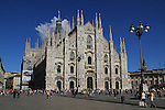 The Gothic-style Duomo Cathedral, Milan, Italy.