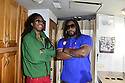 MIRAMAR, FL - JULY 04: ( L-R) Esh Morgan and Jemere Morgan, sons of Mojo and Gramps Morgan, pose backstage during the 4th Of July Independence Day Concert And Fireworks Display at Miramar Regional Park Amphitheater on July 4, 2021 in Miramar, Florida. ( Photo by Johnny Louis / jlnphotography.com )