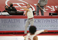 Arkansas head coach Eric Musselman reacts, Saturday, January 9, 2021 during the second half of a basketball game at Bud Walton Arena in Fayetteville. Check out nwaonline.com/210110Daily/ for today's photo gallery. <br /> (NWA Democrat-Gazette/Charlie Kaijo)